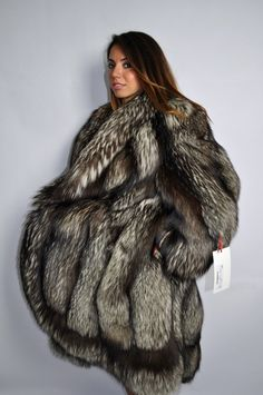 SILVER FOX FUR COAT HOOD CLAS OF CHINCHILLA SABLE JACKET MINK LYNX | Clothes, Shoes & Accessories, Women's Clothing, Coats & Jackets | eBay!