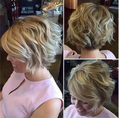 100 Mind-Blowing Short Hairstyles For Fine Hair - Hair Beauty - hadido Wavy Bobs, Blonde Bobs, Short Blonde, Short Thin Hair, Short Hair With Layers, Thick Hair, Beach Waves For Short Hair, Short Hair Cuts For Women With Thick, How To Curl Short Hair