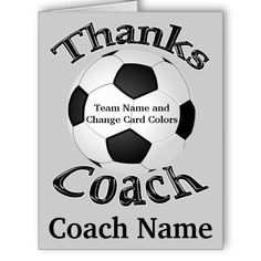 Bnute Productions Free Printable Soccer Coach Thank You Card