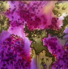 Helen Mortimer, silk painting