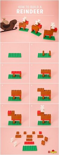 Find out how you and your little builder can make your own LEGO DUPLO reindeer! http://www.lego.com/family/articles/diy-reindeer-stocking-stuffers-and-holiday-decorations-d489bb383b304eba8c391ac41fb806db
