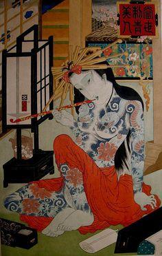 HIROSHI HIRAKAWA Samurai, Japanese Illustration, Illustration Art, Geisha Art, Art Asiatique, China Art, China China, Tatoo Art, Korean Art
