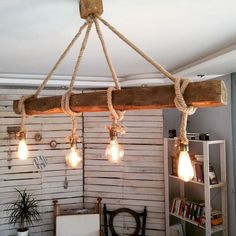Are you looking for rustic lighting ideas to give your home a rustic look? I have here amazing rustic lighting ideas to give your home a rustic look. Rustic Lighting, Pendant Lighting, Lighting Ideas, Pendant Chandelier, Ceiling Pendant, Diy Luminaire, Rope Lamp, Wooden Lamp, Wooden Chandelier