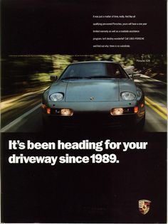 Porsche 928 Ad #porsche
