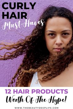 12 Must-have hair products for styling curly and frizzy hair. If you are looking for the best beauty products to reach your hair and beauty goals, these are the absolute best hair products for defining your curls giving frizz control, while improving hair health. #curlyhair #hairproducts #hairproductsforstylingcurls #curlyfrizzyhair Beauty Tips And Secrets, Beauty Tips For Women, Best Hair Care Products, Beauty Products, Curl Enhancing Smoothie, Curly Hair Styles, Natural Hair Styles, Different Hair Types, Natural Hair Regimen