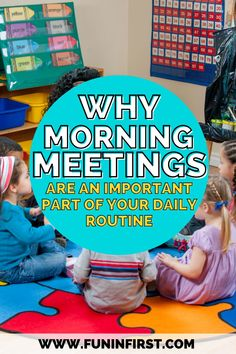 Learn more about why morning meetings are an important part of the daily routine in your kindergarten, 1st grade, and 2nd grade classroom. We'll be gearing up for back to school soon, so read this post to learn how you can incorporate morning meetings into your class schedule, and also learn what it looks like if you're teaching virtually!