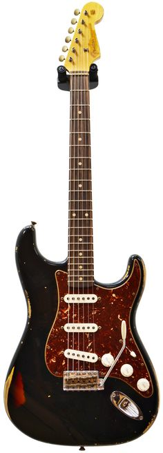 Fender Custom Shop 1960's Strat Heavy Relic Black over Sunburst #R77821 Main Product Image
