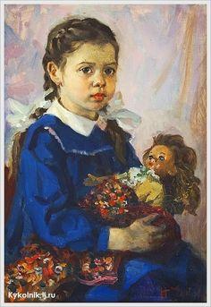 Чуков Николай Сергеевич (Россия, 1923) «Ира с куклой»