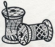 Thread Spools (Blackwork) design (J8497) from www.Emblibrary.com