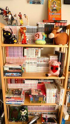 Manga collection @Jenna Neepin --- I'd like to take a moment to appreciate the Gary plushy...