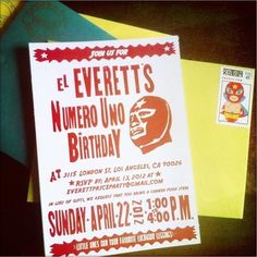 Lucha Libre themed 1st bday party