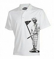 Littlebitofgolf.com has great sales on mens golf shirts we have the Mr bones performance polo in white and much more.