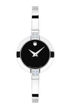 Movado 'Bela' Diamond Case Bangle Watch, 25mm available at #Nordstrom