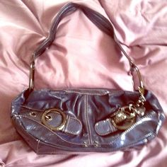 Kathy Van Zealand purse Navy blue, pleather material. Small size, but fits over shoulder. Very cute bag! Kathy van Zealand  Bags