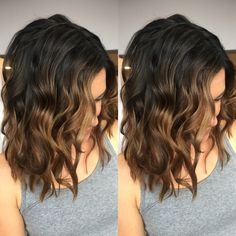 Dark brown to light brown balayage