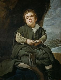 Portret van Francisco Lezcano, het kind van Vallecas ~ 1643-1645 ~ Olieverf op doek ~ 106 x 83 cm. ~ Museo del Prado, Madrid