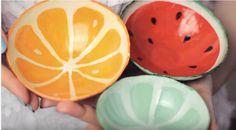 Φτιάξτε υπέροχα μπωλάκια σε σχήμα φρούτων με πηλό που στεγνώνει μόνος του! - {BINTEO}
