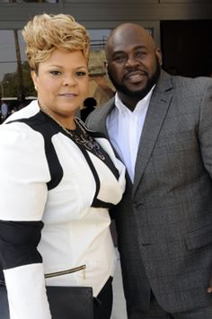 David & Tamela Mann at the Andrea Crouch Funeral Service