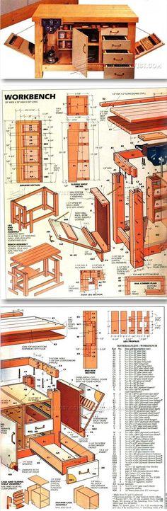 Home Workshop Workbench Plans - Workshop Solutions Projects, Tips and Tricks | WoodArchivist.com