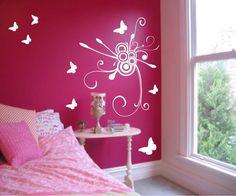cool little girls room ideas | Wall decals ideas for girl bedroom Wall decals for girl bedroom