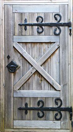 Cowboy wooden door mural wrap
