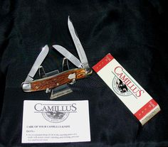 Camillus 69 Deluxe Stock Knife WWII Era Bone Stag 1945 W/Newer Packaging,Papers @ ditwtexas.webstoreplace.com