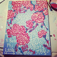 Pi Phi Lilly Pulitzer print crafting #piphi #pibetaphi