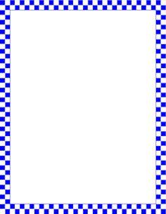 Blue and White Checkered Border