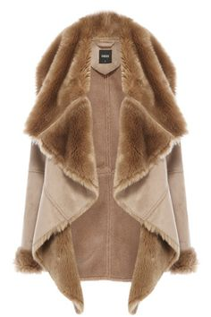 I love this! Ive been searching for a draped faux shearling jacket ...