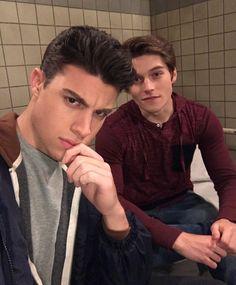 Andrew Matarazzo & Froy Gutierrez on the set of Teen Wolf season 6B