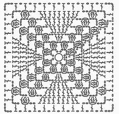 Transcendent Crochet a Solid Granny Square Ideas. Inconceivable Crochet a Solid Granny Square Ideas. Crochet Mandala Pattern, Crochet Square Patterns, Crochet Quilt, Granny Square Crochet Pattern, Crochet Blocks, Crochet Diagram, Crochet Chart, Crochet Squares, Crochet Blanket Patterns
