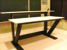 """This is my DIY """"Fifty Dollar"""" Recording Studio Desk that I built and designed in 2009.  People from all over the world have use my Build Plans to build this or versions of it for themselves. Most recent plan purchasers have been from Argentina, Australia, Canada, Finland, France, Israel, Mexico,The Netherlands, Puerto Rico, Switzerland, The United Kindom and all across the U.S. from Hawaii to Maine."""