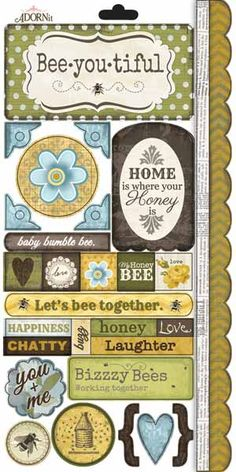 Carolee's Creations - Adornit - Bumble Collection - Cardstock Stickers…