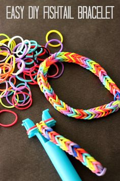 Try this easy, #DIY fishtail bracelet! It's a fun and #craft idea for kids!