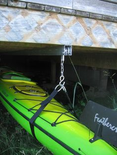 Under Deck Kayak Storage contemporary-wall-hooks I don't think our deck would be high enough but an option.