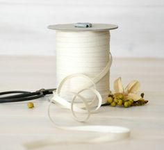 Natural Cotton Ribbon  20 Yards  100 Cotton from by CraftyWoolFelt
