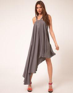 asos vero moda very strappy asymmetric dress
