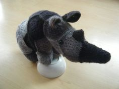 Crochet rhinoceros made out of African Flowers by HandmadebyFieke, €40.00