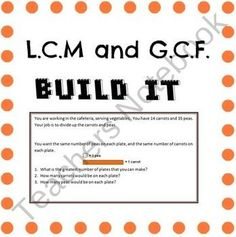 Worksheets Lcm And Gcf Worksheets shops activities and products on pinterest lcm gcf hands math activity find lots of interesting worksheets other