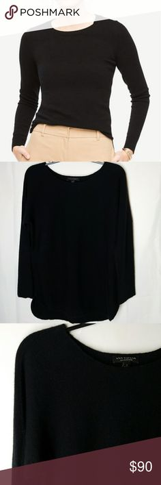 """Ann Taylor Sweater 100% Cashmere  Made from soft and refined Cashmere So So Soft u will never want to take it off!!!! Slide slits , scoop hem Armpit-Armpit 19"""" Length 27 1/2"""" Ann Taylor Sweaters"""