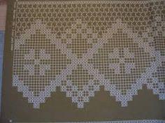 Výsledek obrázku pro filet crochet cortinas