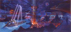 Discovery Mountain interior, Disneyland Paris (never built as such) - Tim Delaney
