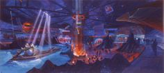 Discovery Mountain interior, Disneyland Paris (never built as such) - Tim Delaney