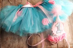 Cotton Candy Pink and Blue Tutu with by LittleMissBettyLou on Etsy, $38.00