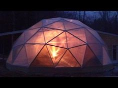 Geodesic Dome Greenhouse - Part 9 - Polycarbonate! - YouTube