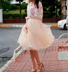 Adult Tulle Skirt Blush tulle skirt Ladies tutu by MyBarkatVilla