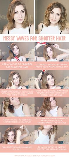 Short hair? Use a small-barreled iron facing downward. | 21 Extremely Useful Curling Iron Tricks Everyone Should Know