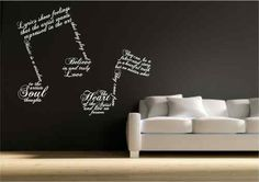 Music note symbols wall decal. I absolutely love this!
