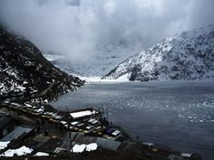 Frozen Tsongmo Lake During Winters - Sikkim, India
