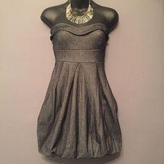 Soft Denim Bubble Dress